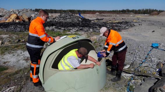 Doranovan ja Detes Nordicin työntekijät suorittivat kaasumittauksia kesällä 2018.