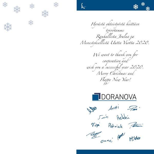 Dorvanovan henkilökunta toivottaa mukavaa joulunaikaa