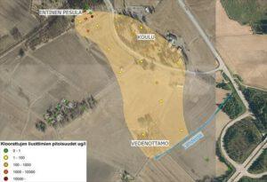 Pohjaveden pilaantuneisuus Nopon pesulan alueella