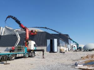 Yksi Doranovan vuonna 2020 urakoimista kohteista oli Jepuan Biokaasu Oy:lle rakennettu Hardferm-kuivamädätyslaitos.